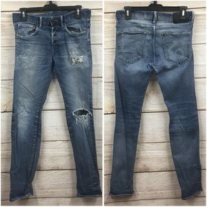 Men's H&M Slim Low Waist Distressed Jeans 30x32
